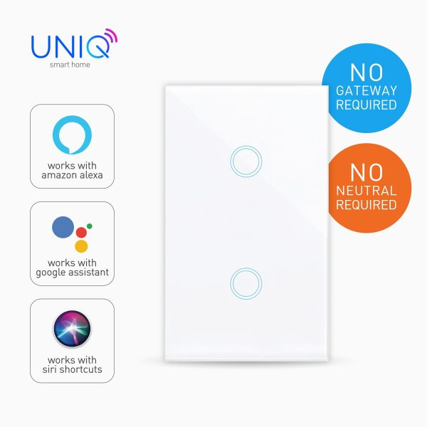 Smart Switch Wi-Fi Touch-2gang