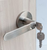 Door Locket Round – Silver (4)