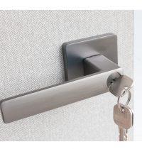 Door Locket Square – Gunpowder metal (1)