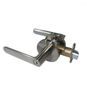 Key-in Lever Door Lockset - Round (Silver)