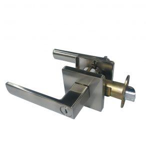 Key-in Lever Door Lockset - Square (Silver)